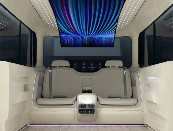 carros do futuro interior hyundai ionic