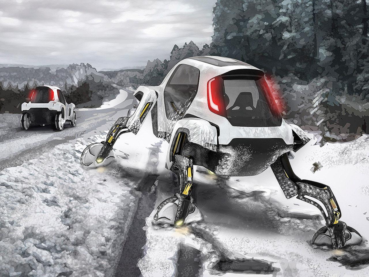 hyundai elevate na neve: veículo é semelhante ao Walker, de Star Wars