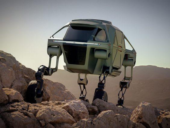 hyundai elevate off road: veículo é semelhante ao Walker, de Star Wars