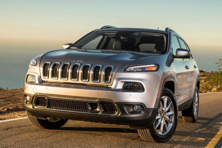 jeep cherokee limited 2014 a 2018 prata visto de frente