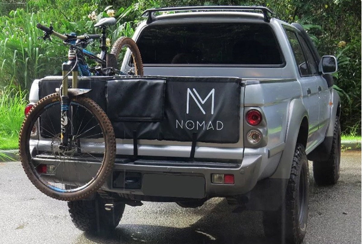 nomad truckpad protetor de cacamba para transportar bicicletas