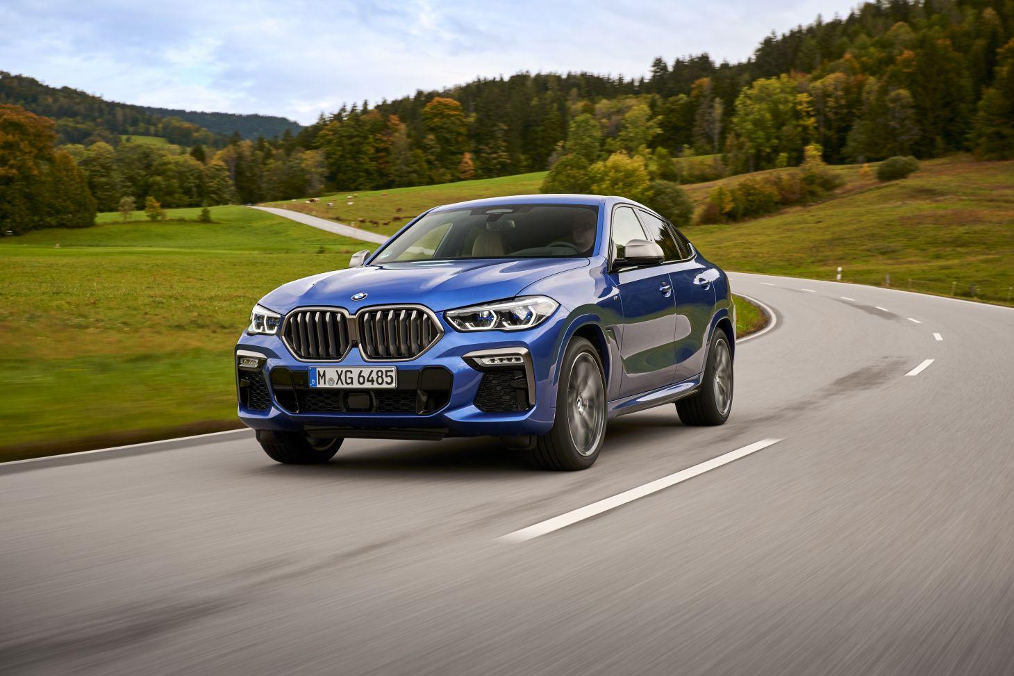 novo bmw x6 azul dianteira