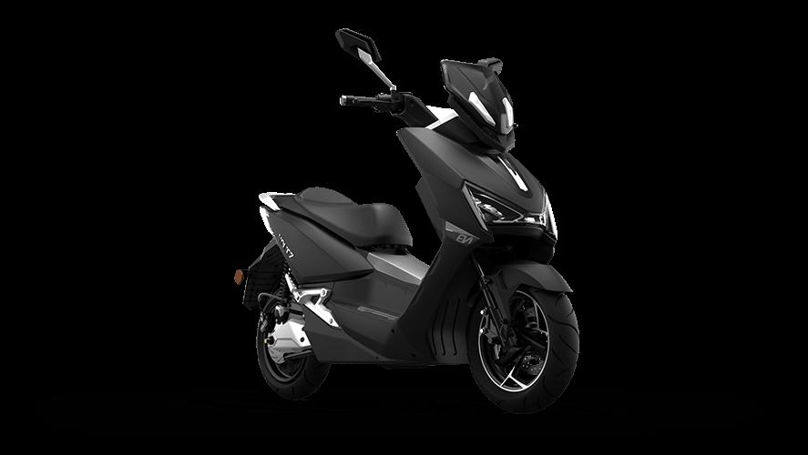 scooter eletrica voltz ev1 preta vista de lado