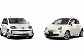 VW up! e Fiat 500 no Brasil em 2021. Importados....