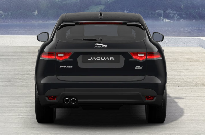 traseira jaguar f pace preto