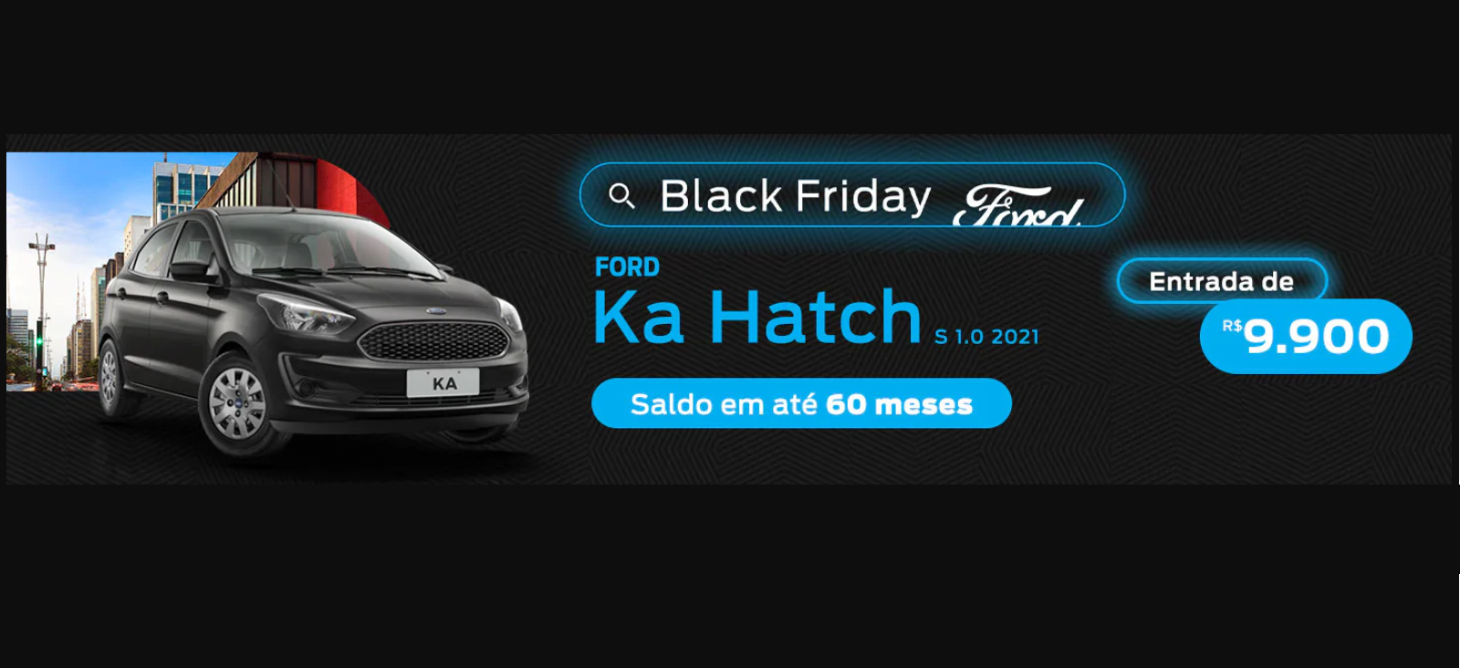 banner promocao ford ka hatch black friday