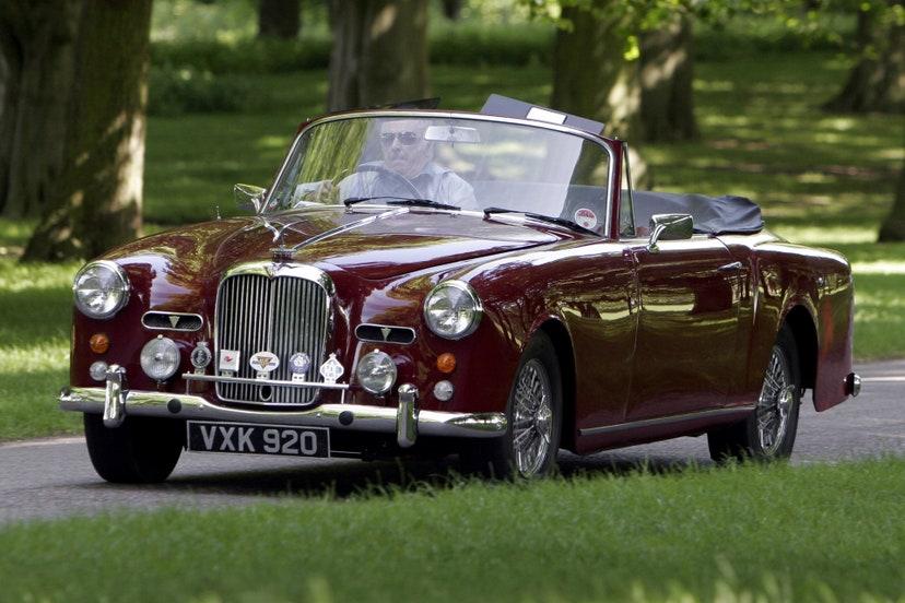 alvis td21 series ii drophead coupe 1961 carros colecao philip duque edimburgo