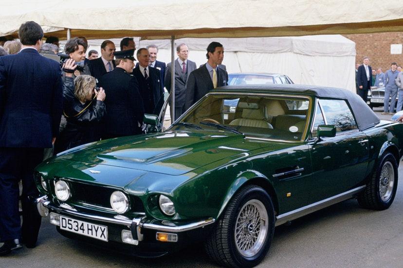 aston martin v8 vantage volante 1989 colecao carros principe charles