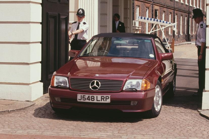 mercedes benz 500 sl 1991 carro familia real princesa diana