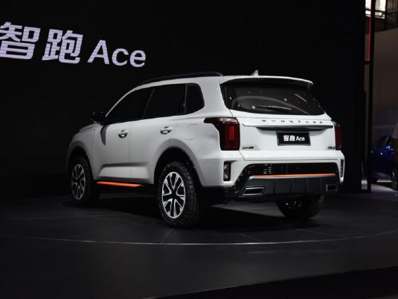 kia sportage ace branco em salao do automovel na china