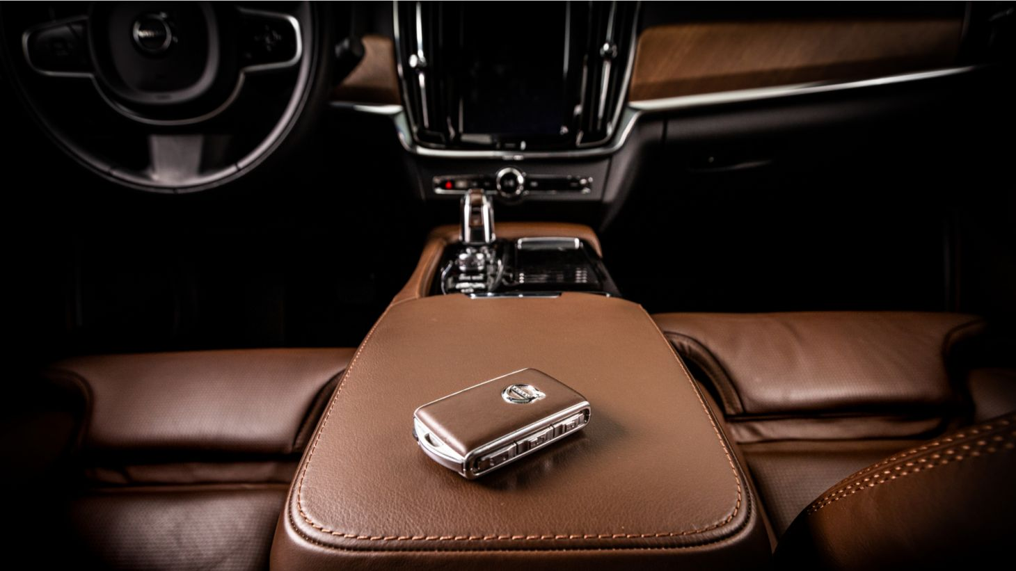 volvo care key chave do carro console apoio braco painel