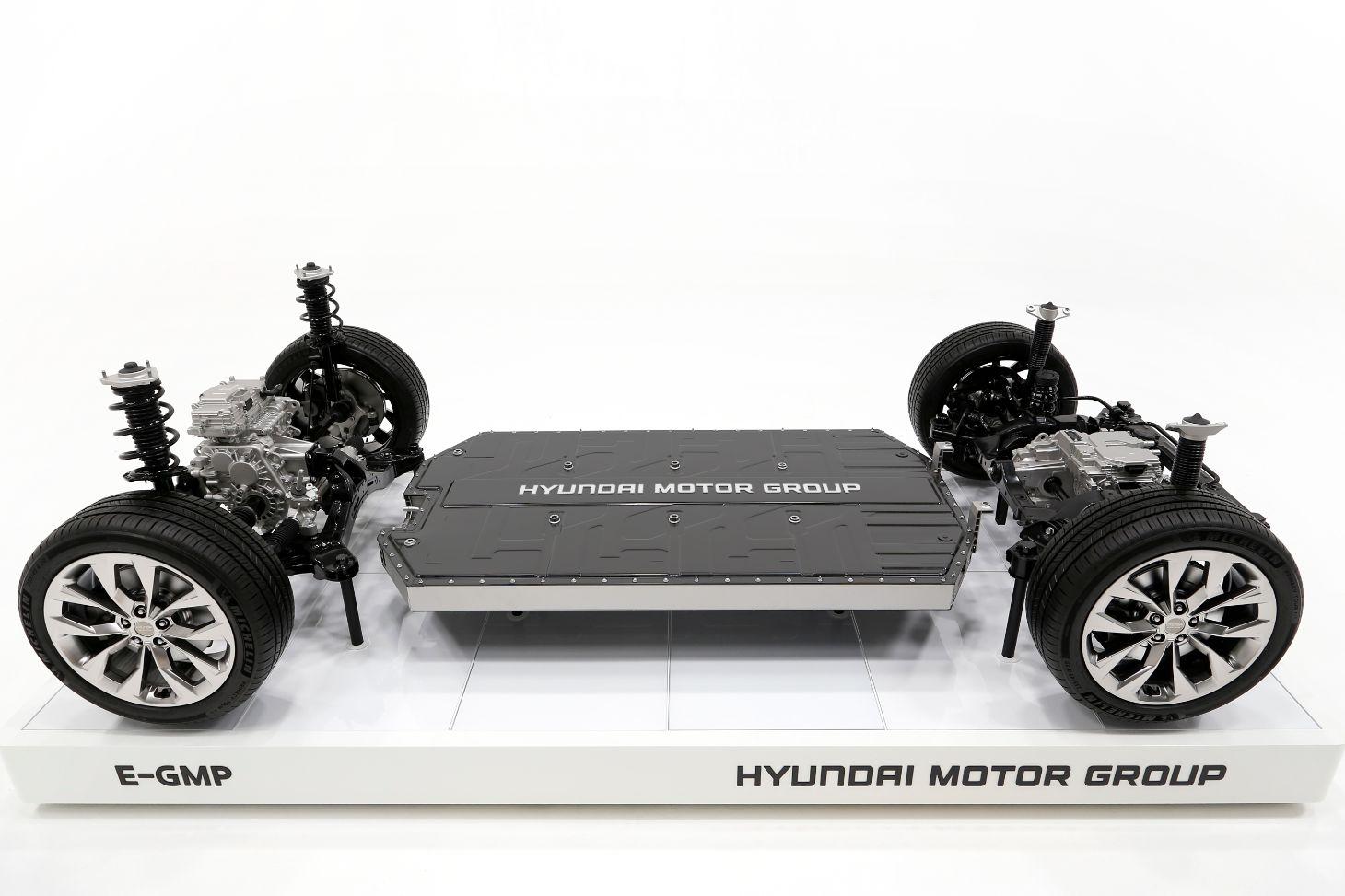 plataforma global para eletricos da hyundai chamada e gmp vista de cima