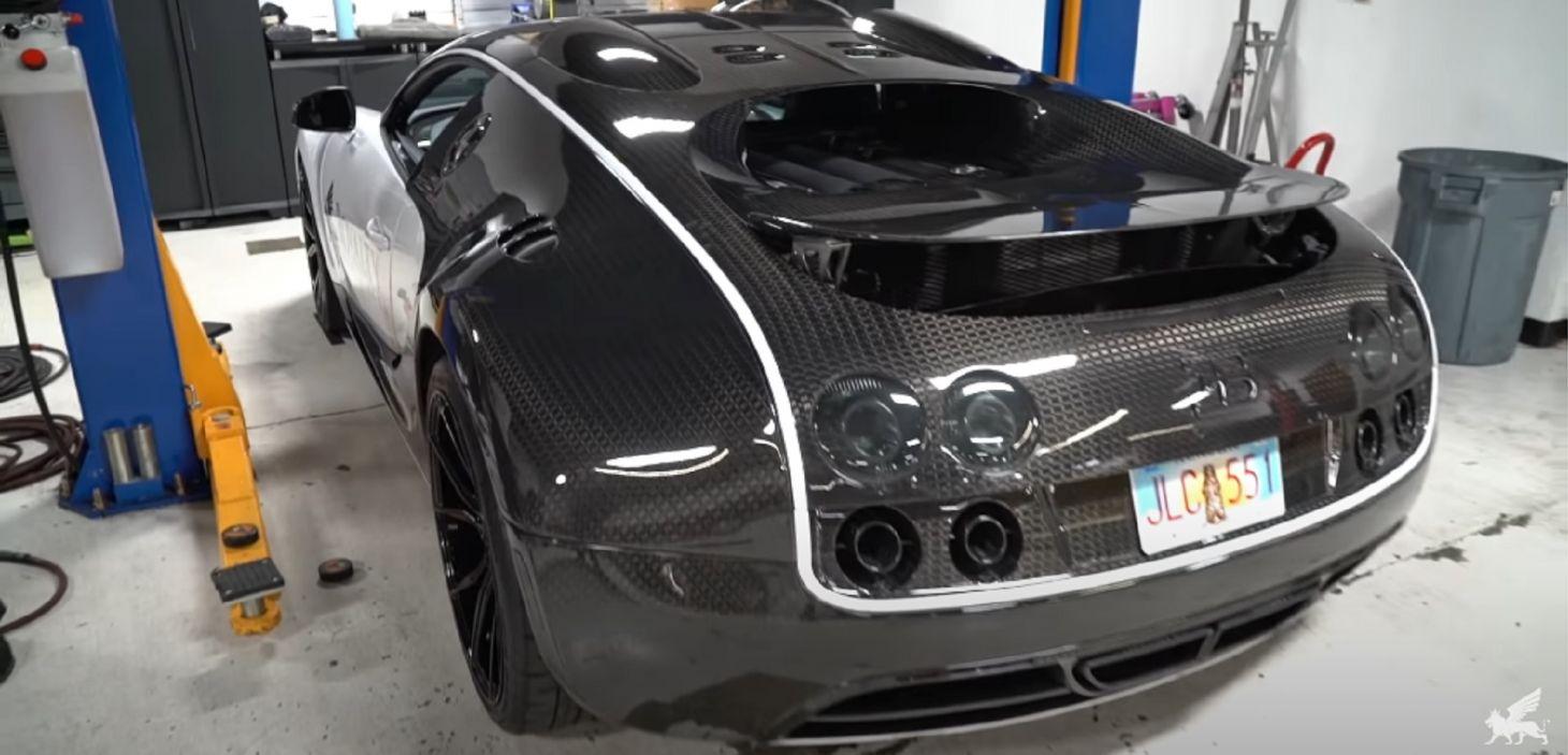 bugatti veyron troca de oleo