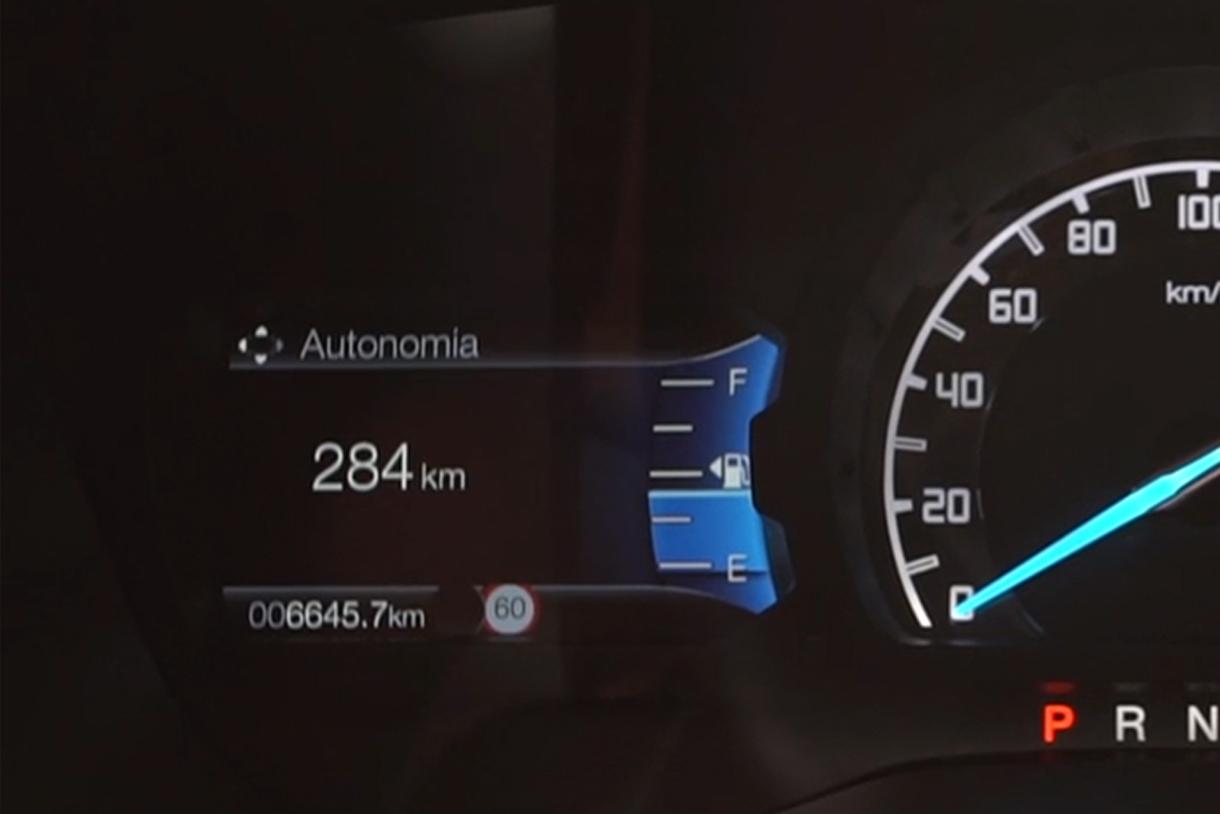 autonomia de combustivel no painel da ford ranger