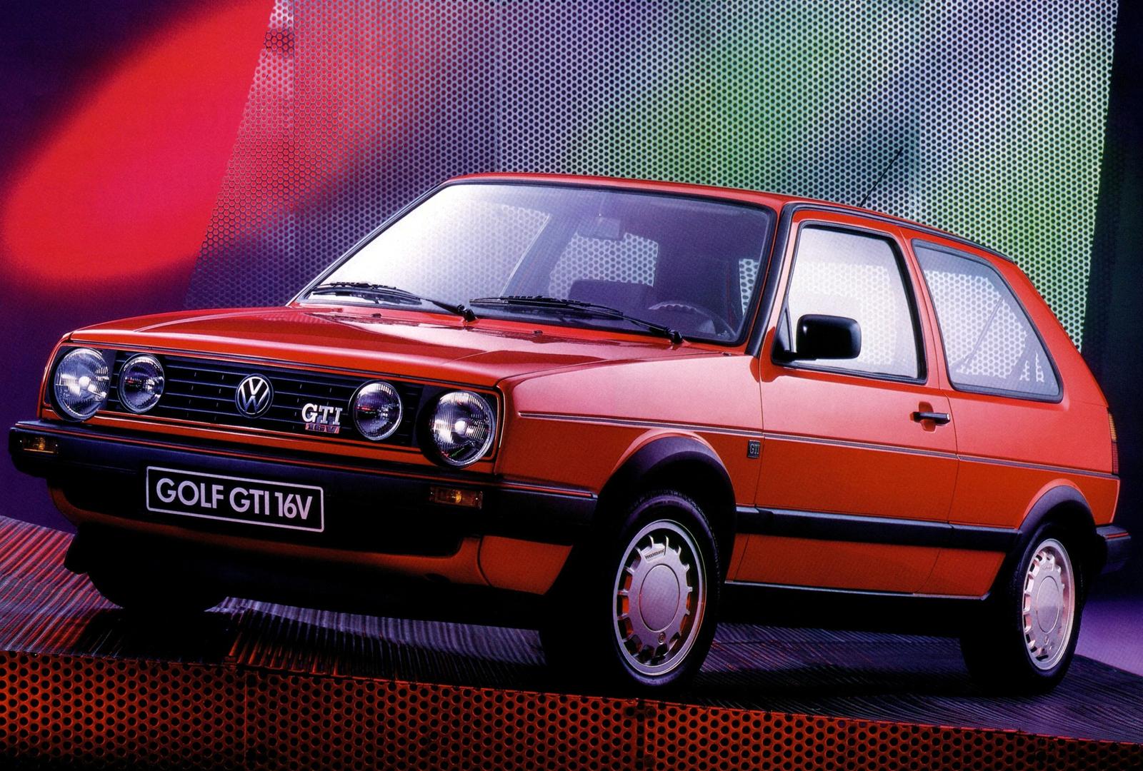 volkswagen golf gti 16v mk2 vermelho de frente