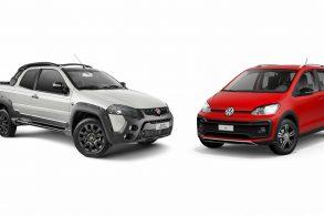 VW up! 1.0 pode 'dar pau' em Fiat Strada 1.8 ?