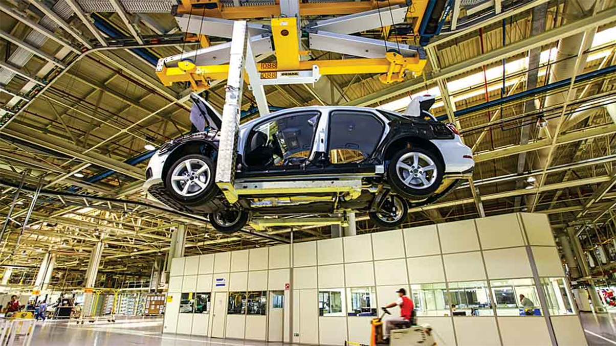 audi a3 sedan sendo produzido na fabrica de sao jose dos pinhais pr