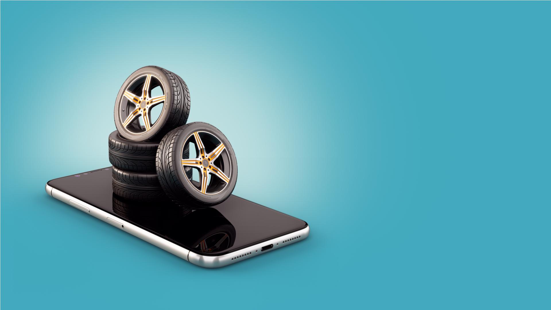comprar pneus internet online celular shutterstock 1341325862