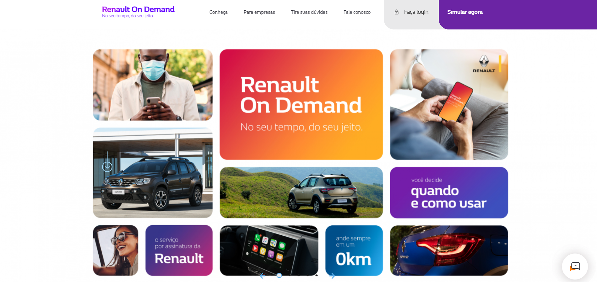 renault on demand alugar carro