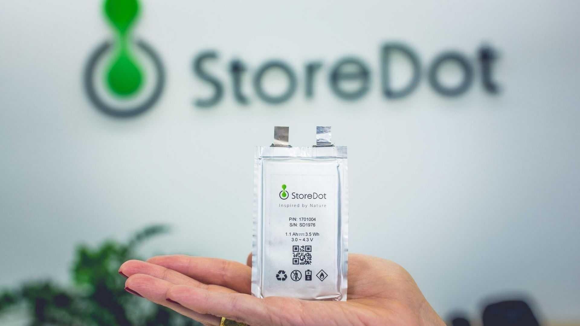 storedot bateria carros eletricos