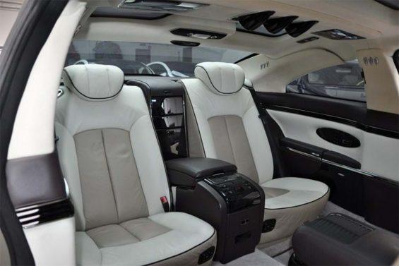 maybach 57s coupe xenatec encomendado por muammar gaddafi interior