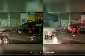 Carro com homem dentro do capô é flagrado pela PM
