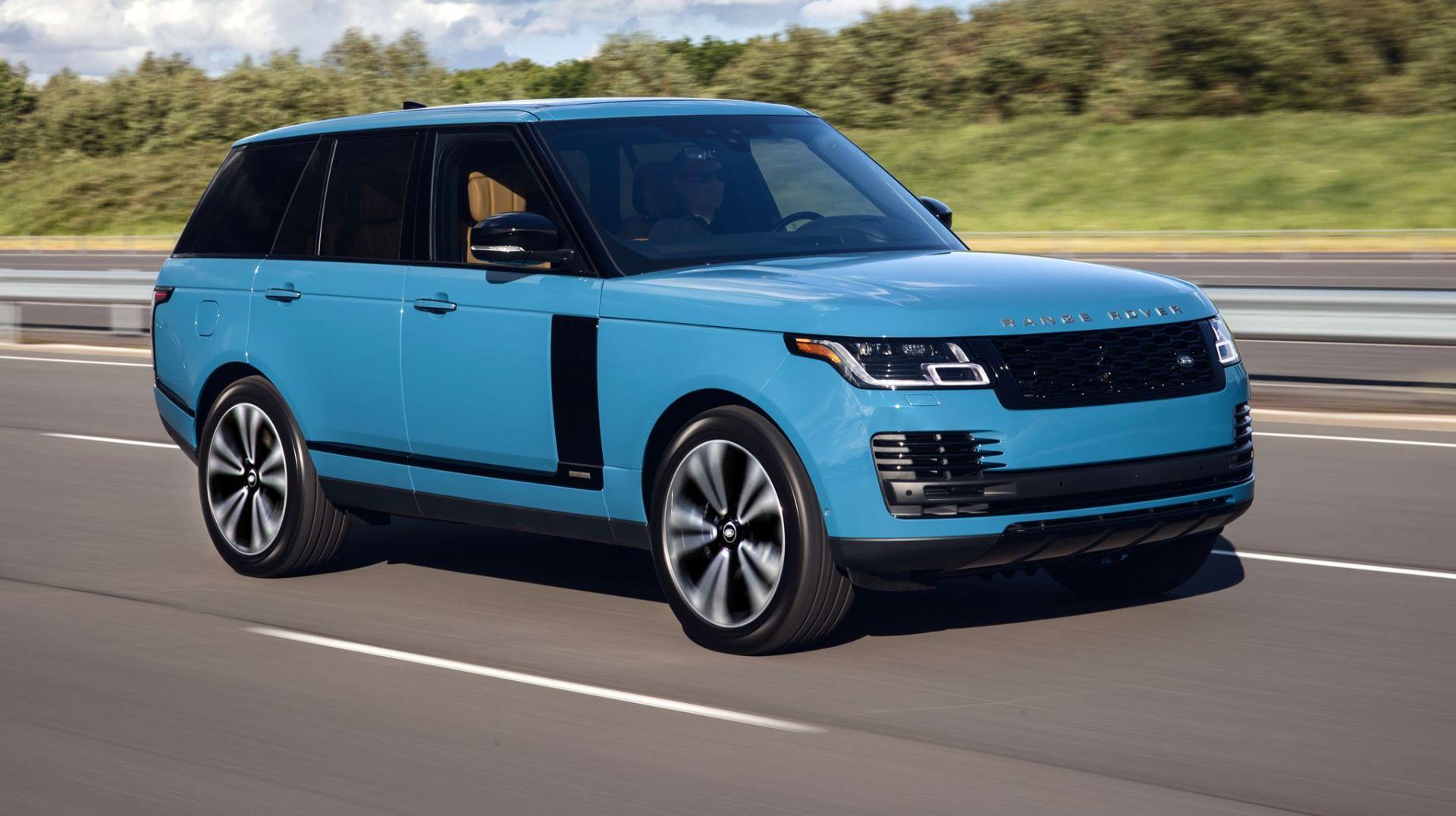 land rover range rover sv autobiography azul em rodovia