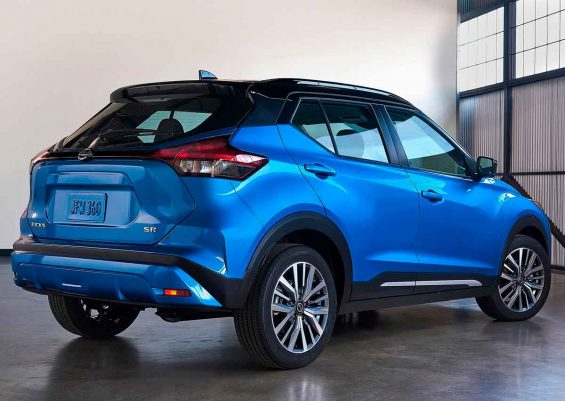 traseira do novo nissan kicks 2022 azul