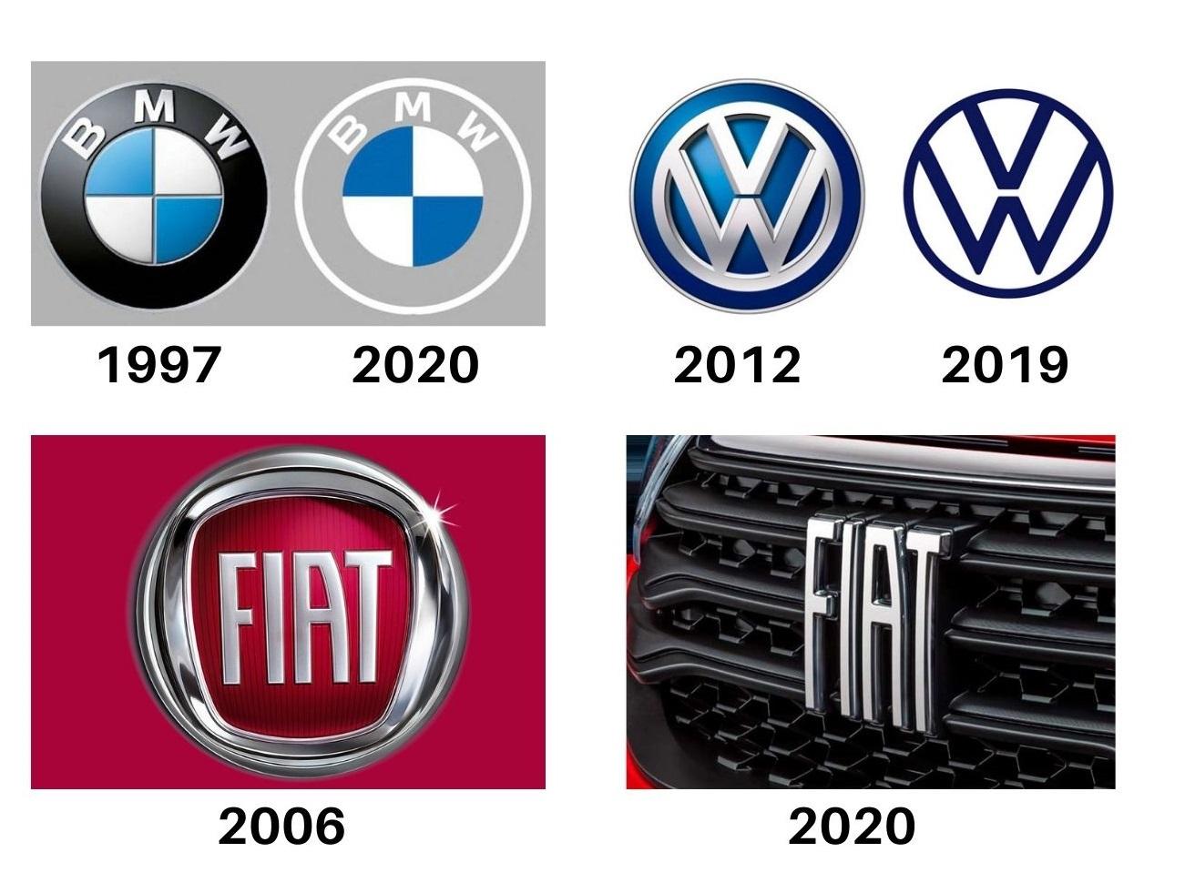 logos bmw vw fiat
