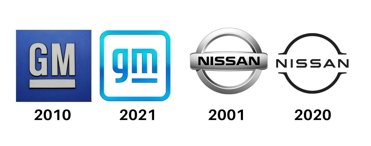 logos gm nissan