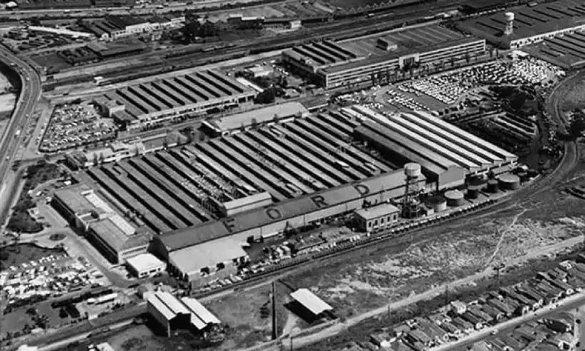 vista aerea da fabrica da ford no ipiranga em sao paulo
