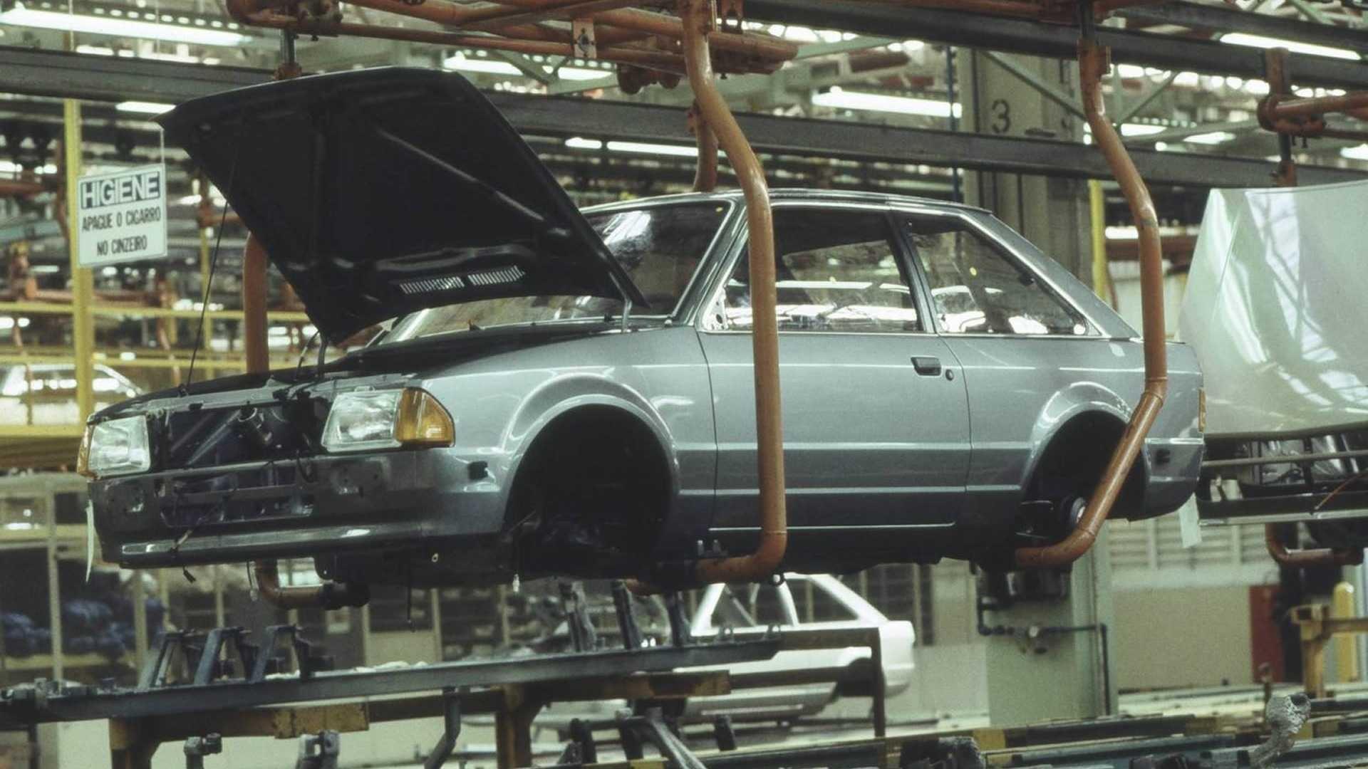 producao ford escort na fabrica de sao bernardo do campo