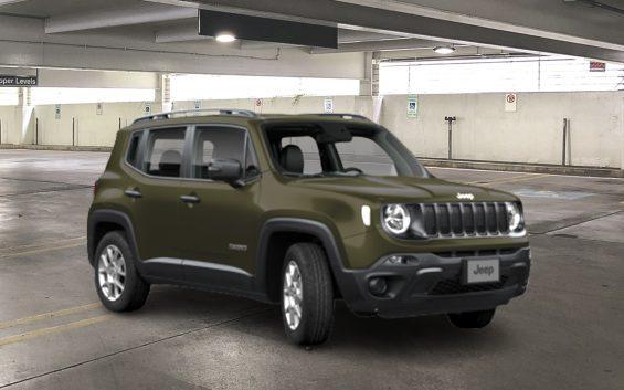 jeep renegade std verde de frente em garagem