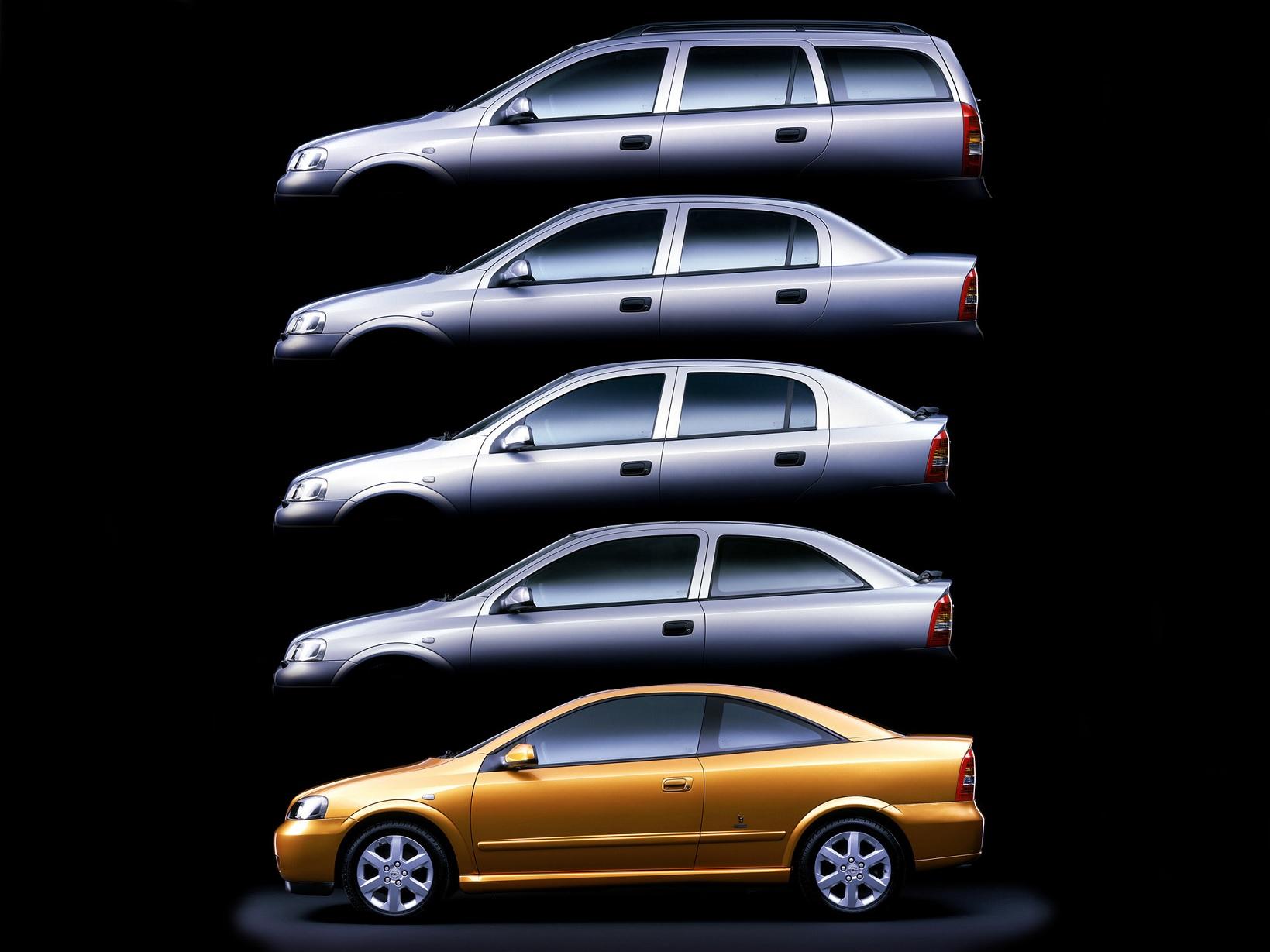linha opel astra wagon sedan hatch e coupe