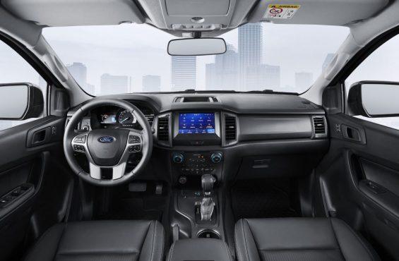 interior da ford ranger black