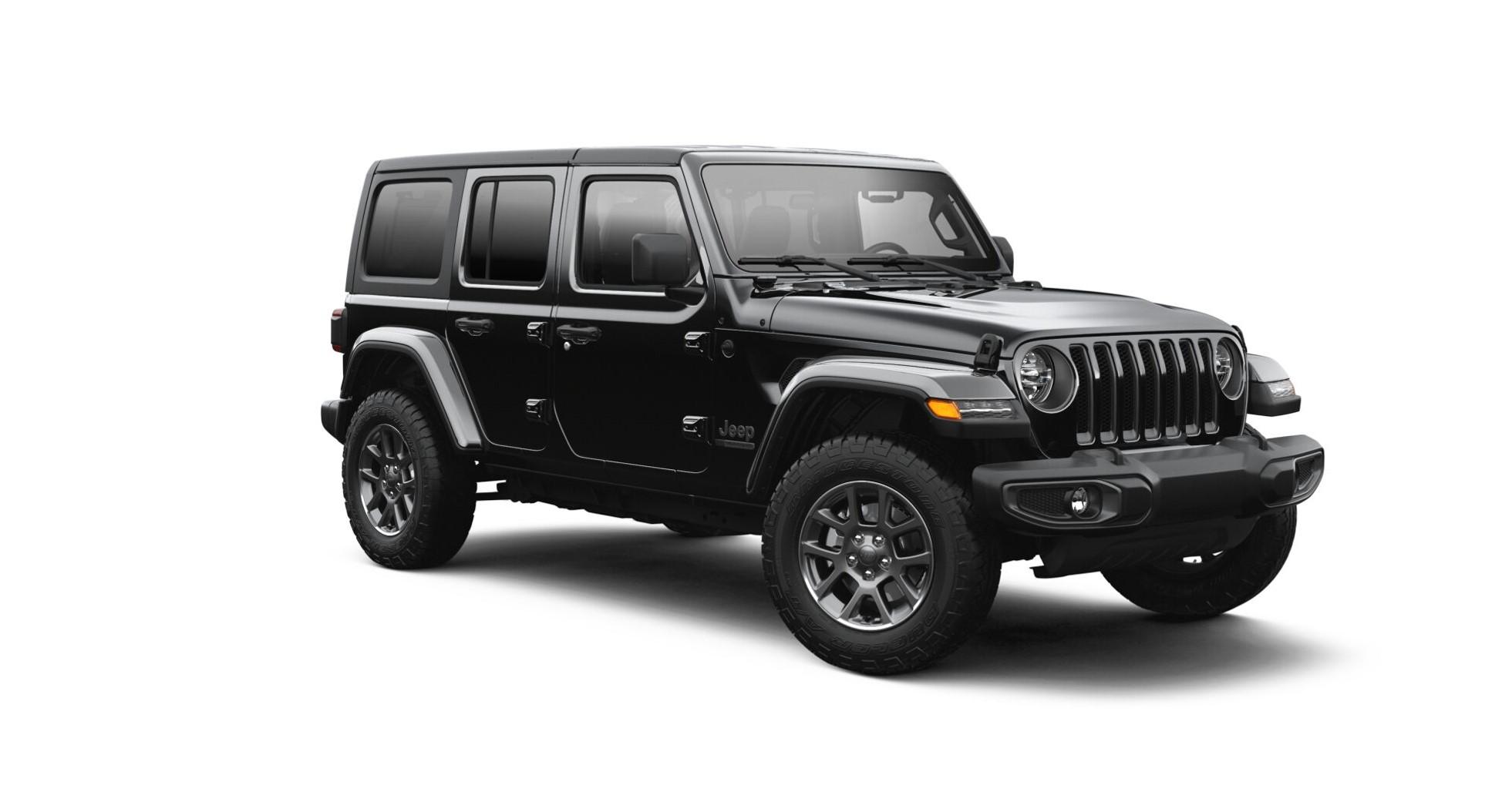 jeep wrangler serie especial 80 anos em fundo branco