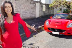 Influencer Camila Loures 'leva bronca' da polícia ao exibir Ferrari em vídeo
