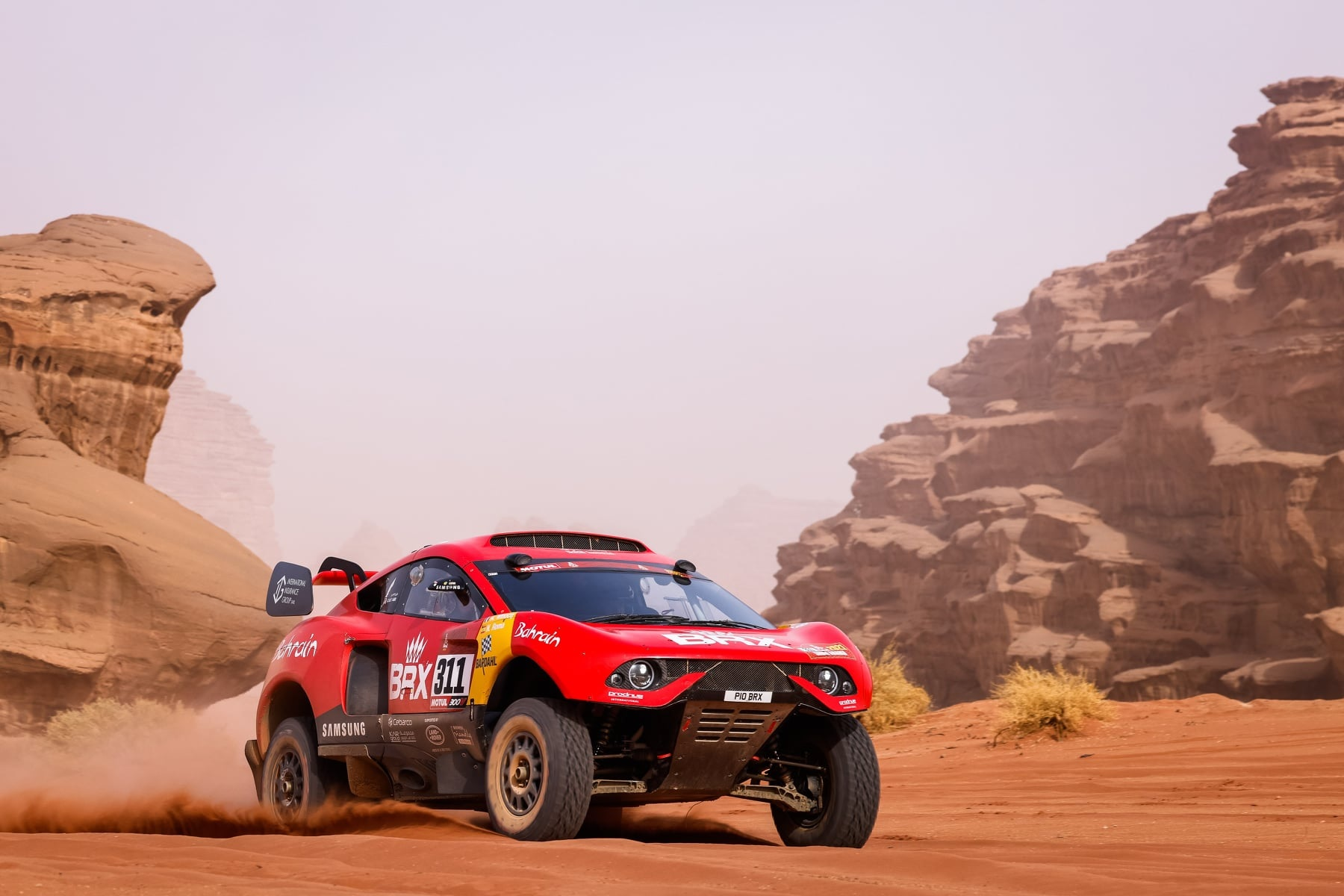 veiculo prodrive hunter t1 no rally paris dakar 2021