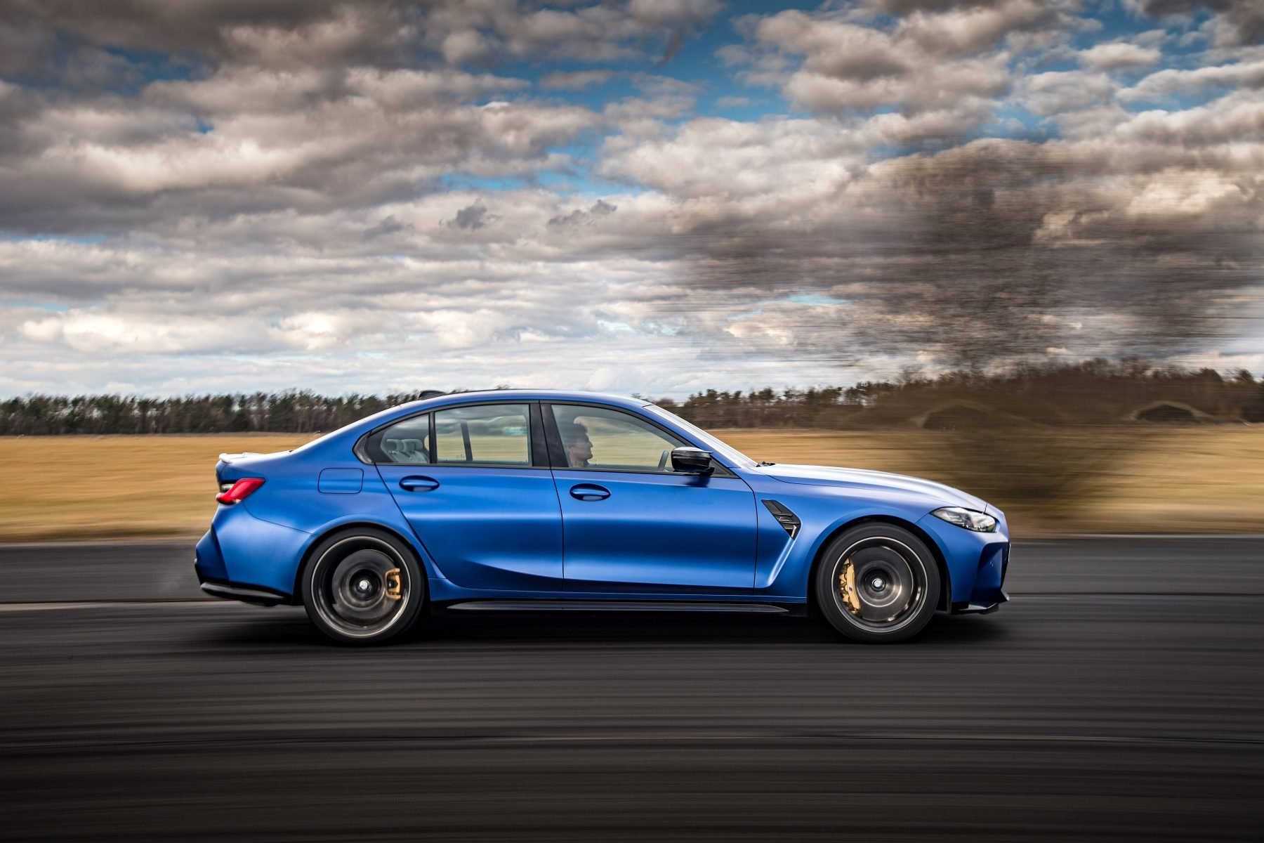 bmw m3 competition azul lateral