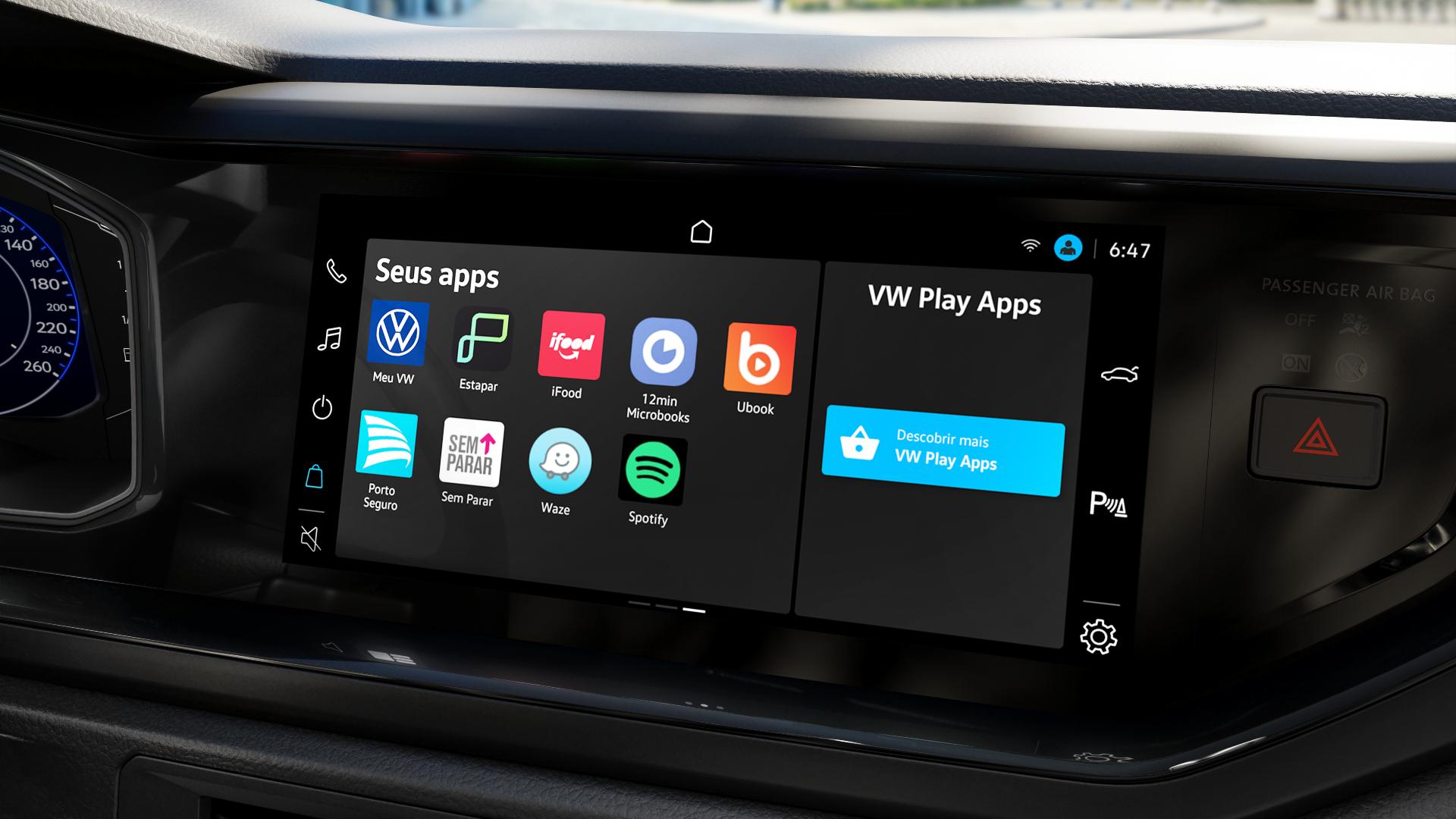 tela de aplicativos da vw play a nova central multimidia da volkswagen