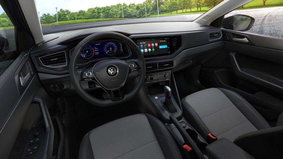 interior do volkswagen polo 2022