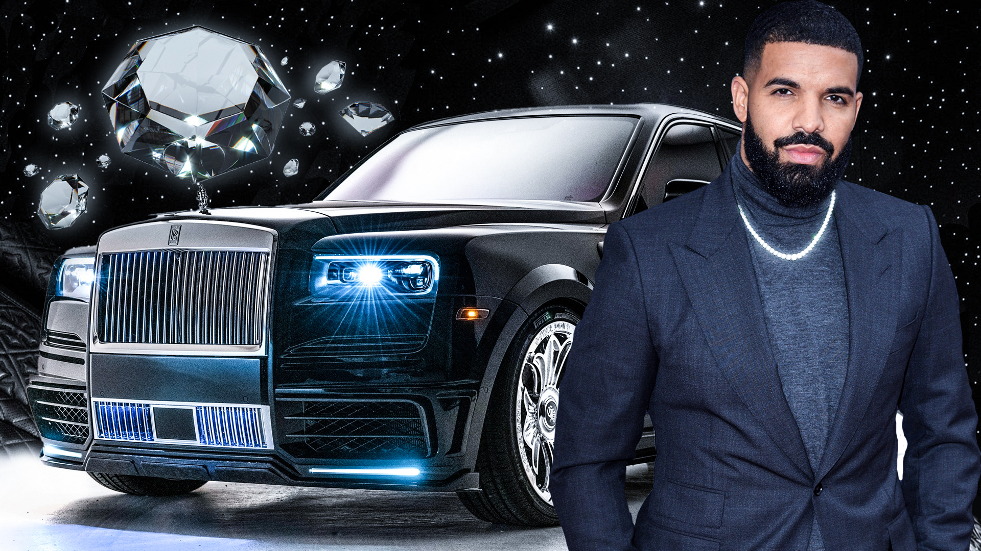 Rapper Drake e seu Rolls-Royce