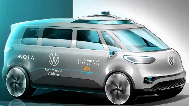 Conceito veículo autônomo da Volkswagen: ID Buzz