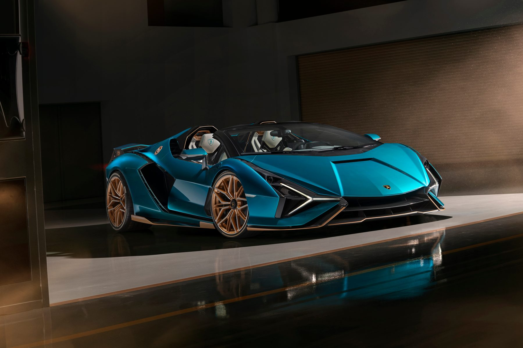 Modelo híbrido Lamborghini Sian Roadster