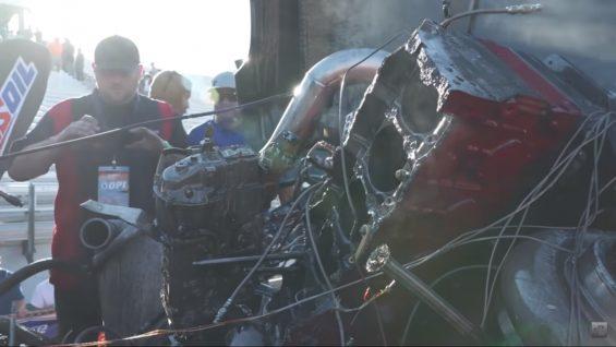 motor apos explosao em dinamometro