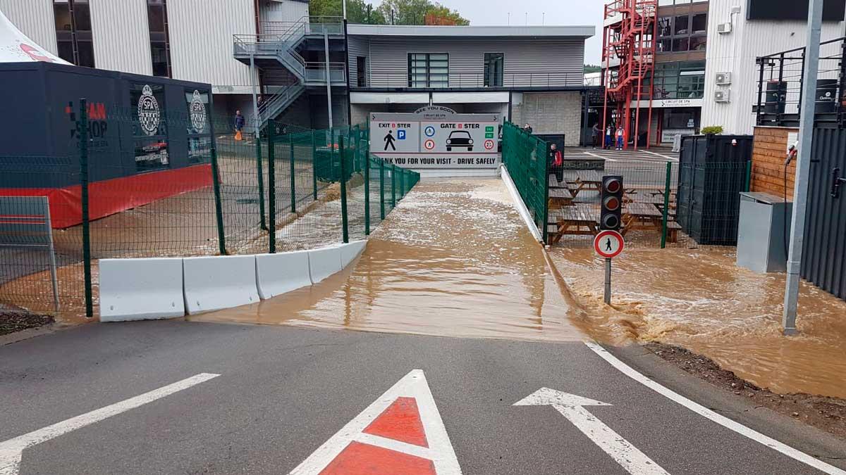 spa francorchamps paddock tempestade inundamento
