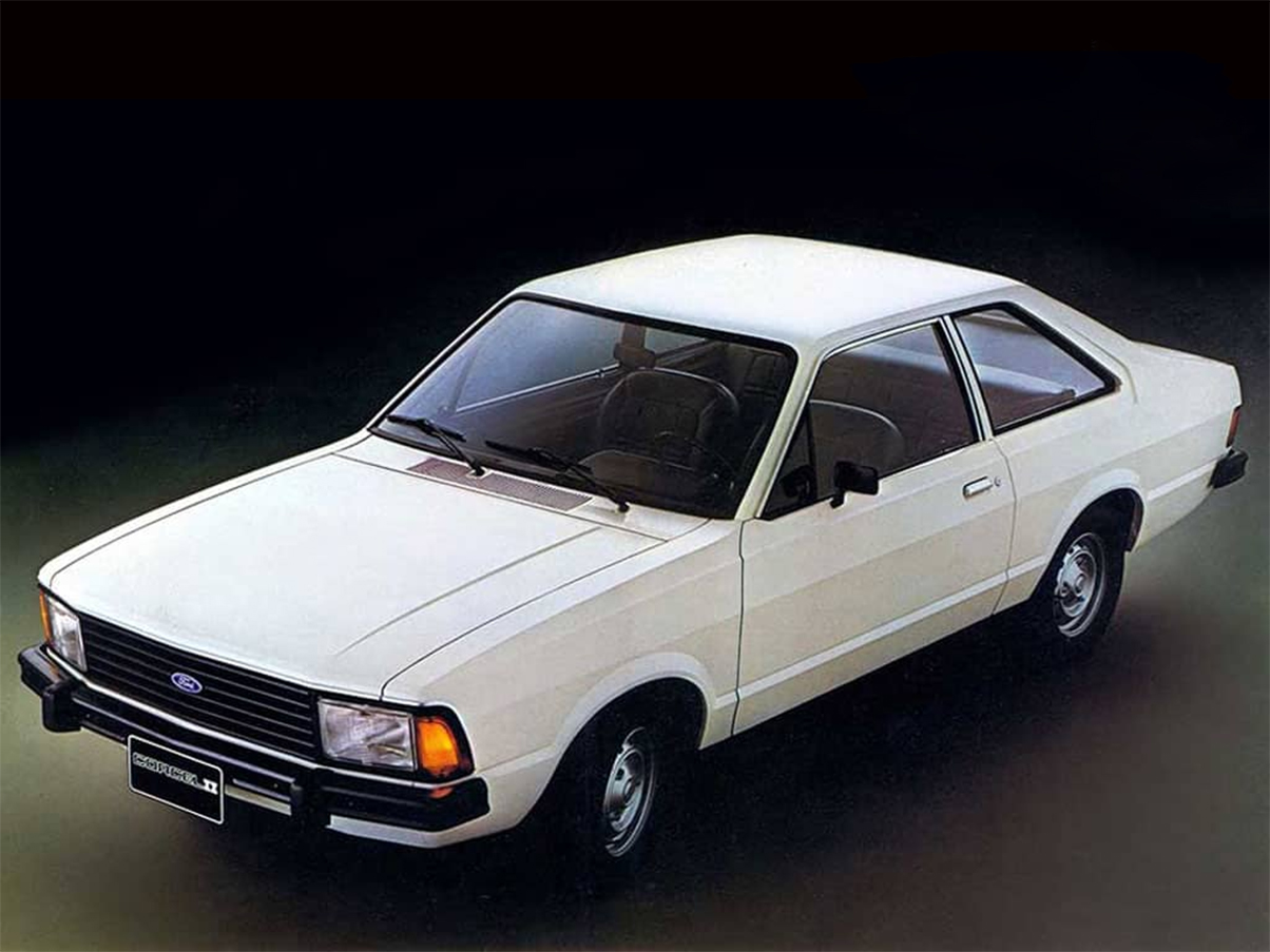 ford corcel ii l branco lateral