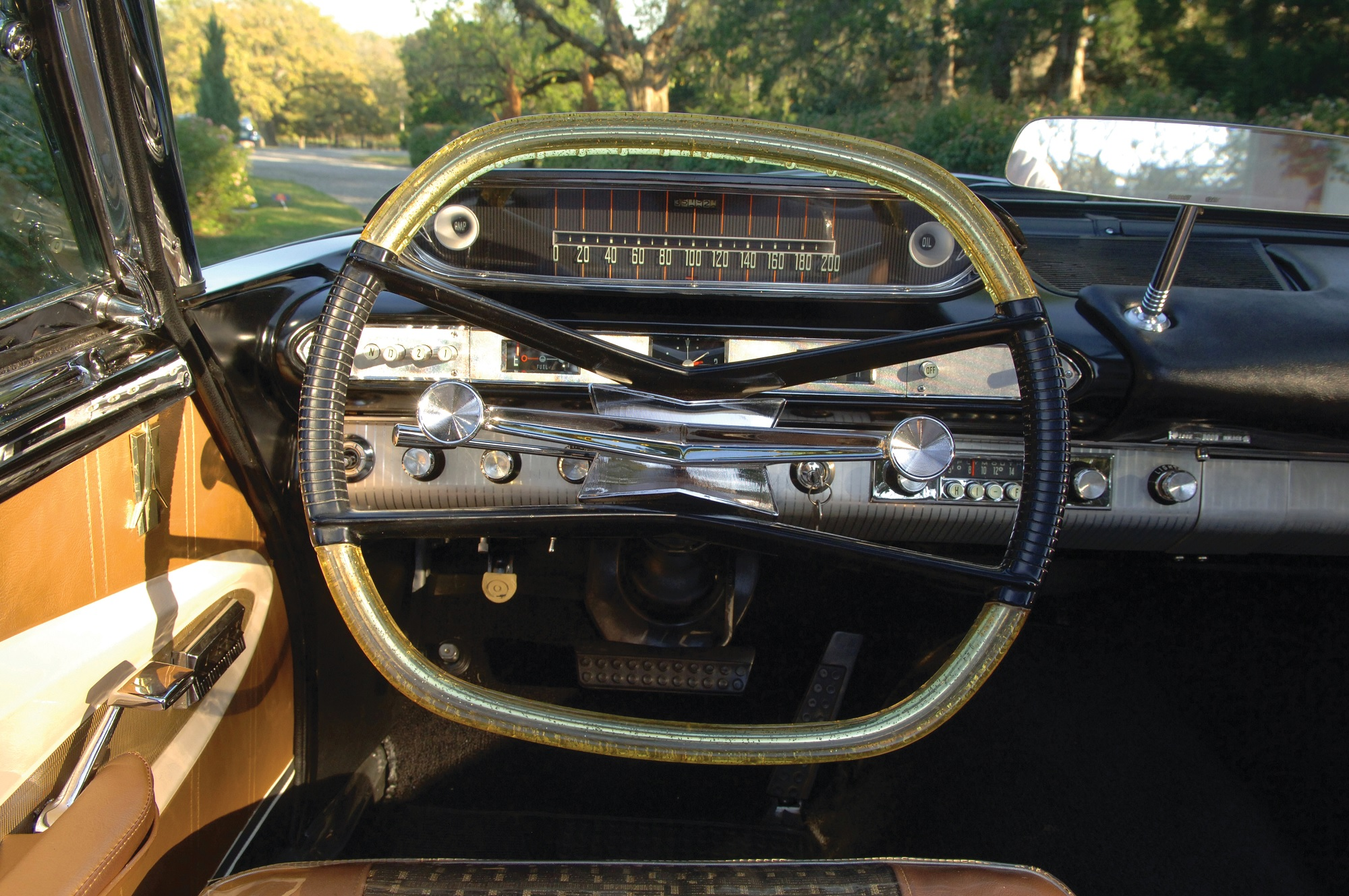 volante e instrumentos do pymouth fury 1960