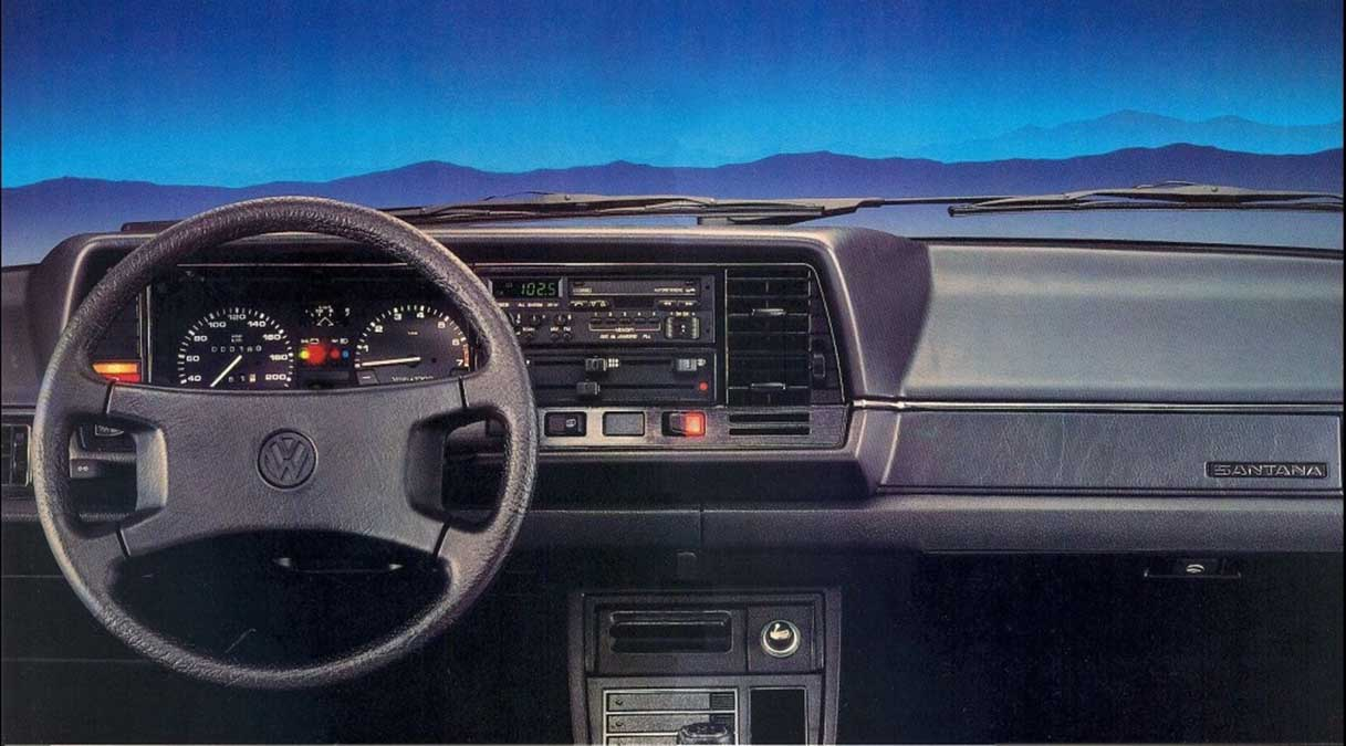 painel e interior do santana 2000 1988 credito divulgacao vw