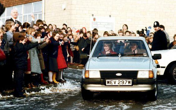 ford escort ghia 1981 frente princesa diana foto de epoca getty images